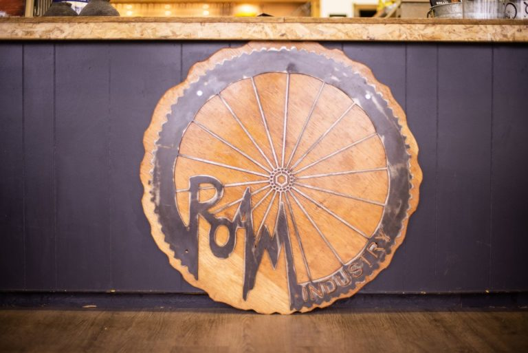 bikepacking roam wheel sign