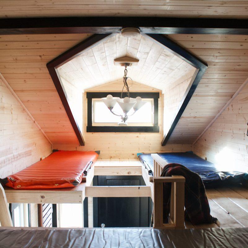 Loft of the Roam Tiny Home.